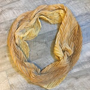 Francesca's Gold Infinity Scarf